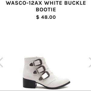 White Buckle Bootie